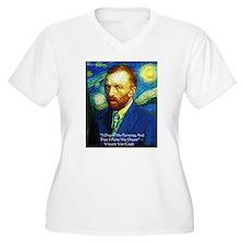 Van Gogh Paint My Dream Plus Size T-Shirt