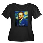 Van Gogh Paint My Dream Plus Size T-Shirt