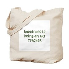 Happiness is being an ART TEA Tote Bag