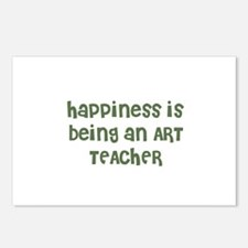Happiness is being an ART TEA Postcards (Package o