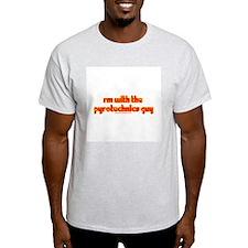 Im W/ The Pyrotechnics Guy Ash Grey T-Shirt