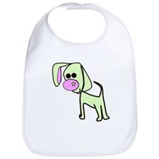 Green cute puppy Bib