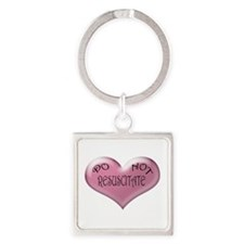 Do not Resuscitate Pink Heart Keychains