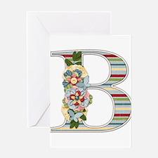 Monogram Letter B Greeting Card