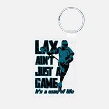 Lax Aint Just A Game Keychains