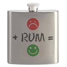 Plus Rum Equals Happy Flask