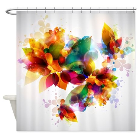 Colorful Floral Shower Curtain By Showercurtainshop