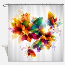 Colorful Floral Shower Curtain