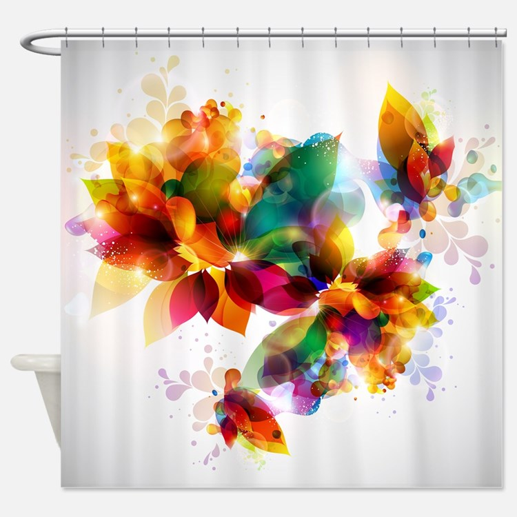 Colorful shower curtains colorful fabric shower curtain Colorful shower curtains