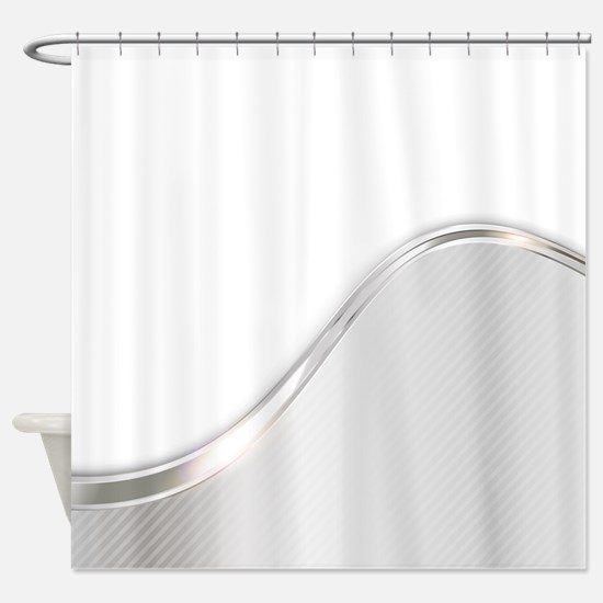 Light Wave Abstract Shower Curtain