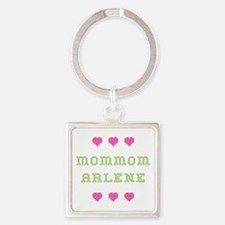 MomMom Arlene Square Keychain