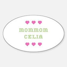 MomMom Celia Oval Bumper Stickers