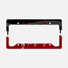 Stylish Piano keys and musica License Plate Holder