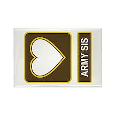 Army Sis Logo Rectangle Magnet