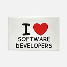 I love software developers Rectangle Magnet