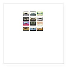 """mix tape tee Square Car Magnet 3"""" x 3"""""""