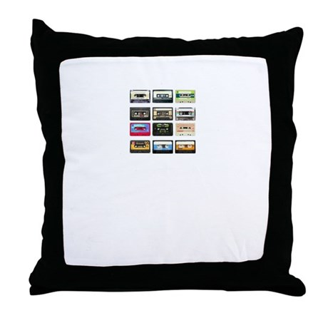 mix tape tee Throw Pillow