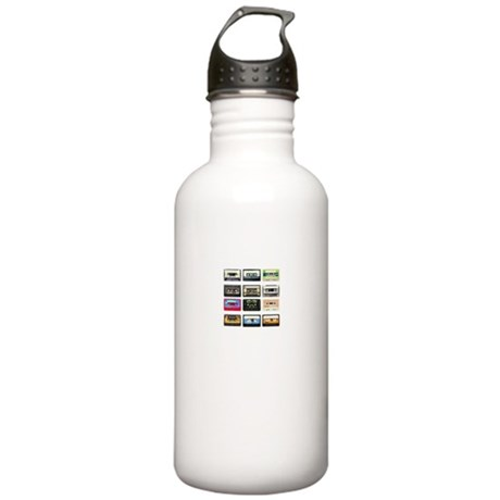 mix tape tee Water Bottle