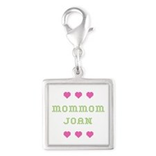 MomMom Joan Silver Square Charm