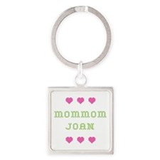 MomMom Joan Square Keychain