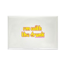 I'm W/ the Drunk Rectangle Magnet (10 pack)