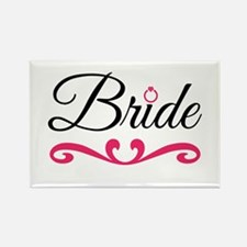 Bride Rectangle Magnet