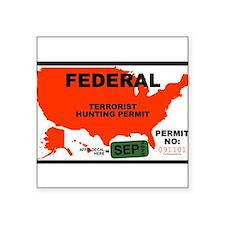 Terrorist Hunting Permit Sticker
