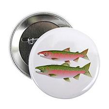 "Pacific Coho Salmon fish couple 2.25"" Button (10 p"