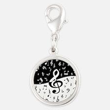 Stylish random musical notes Charms