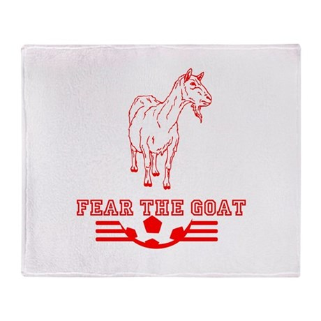 Fear The Goat Throw Blanket