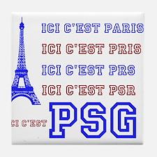 Ici cest PSG Tile Coaster