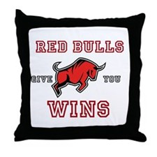 Red Bulls Give You Wins Throw Pillow