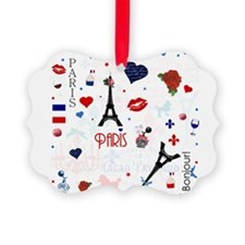 Paris pattern with Eiffel Tower Ornament