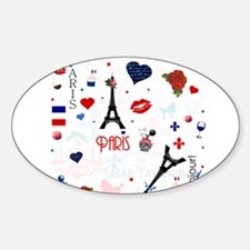 Paris pattern with Eiffel Tower Decal