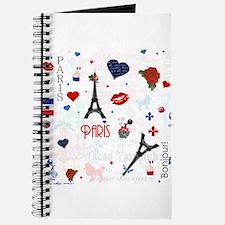 Paris pattern with Eiffel Tower Journal