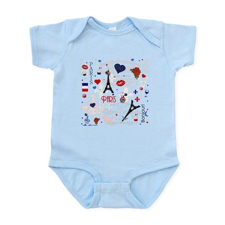 Paris pattern with Eiffel Tower Body Suit