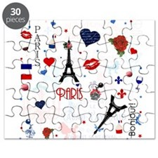 Paris pattern with Eiffel Tower Puzzle