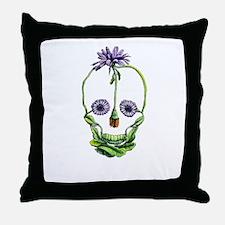 DaisySkull Throw Pillow