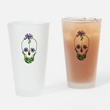 DaisySkull Drinking Glass