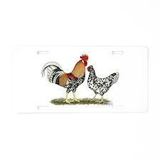 Icelandic Chickens Aluminum License Plate