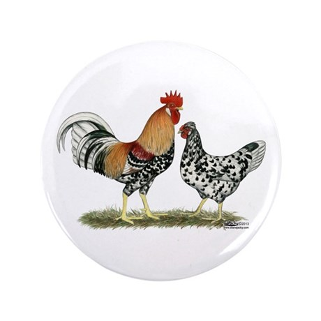 "Icelandic Chickens 3.5"" Button (100 pack)"