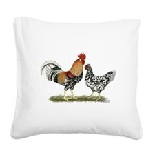 Icelandic Chickens Square Canvas Pillow