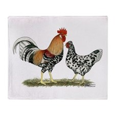 Icelandic Chickens Throw Blanket
