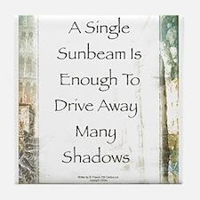 La Piazza Sunbeam Prayer by St. Francis Tile Coast