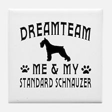 Standard Schnauzer Dog Designs Tile Coaster