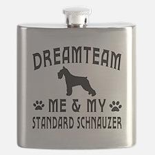 Standard Schnauzer Dog Designs Flask