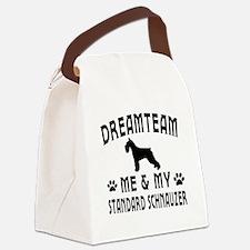 Standard Schnauzer Dog Designs Canvas Lunch Bag