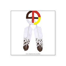 Medicine Wheel w/ Feathers Rectangle Sticker