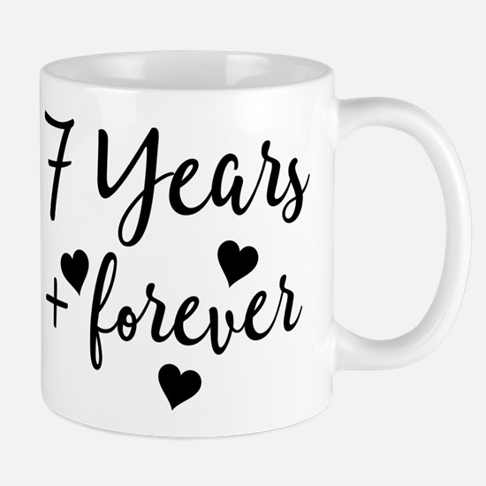 7th Anniversary Couples Gift Mugs