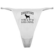 Sussex Spaniel Dog Designs Classic Thong